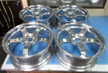 ADVAN RacingGT19インチ鍛造1Psスーパーポリッシュバレル3次元研磨+パウダークリアー