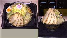 らーめん・つけめん満帆 ごじめん大盛り+野菜マシ+チャーシューマシ+餃子。