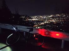 夜の峰山、二往復