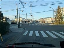 交差点での恐怖。