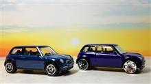 """¥300のガチャで見かける"""" モーターマックス """"はやはり"""" リアルトイ """"なコトが判明。 ま,既に判明してたんですが,自分の目で確かめると納得しますなw 初代MINI(BMW)で観察です♪"""