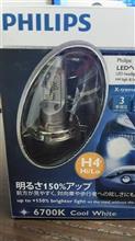 【Philips X-treme Ultinon LED H4 ヘッドランプ 6700K モニターレポート】