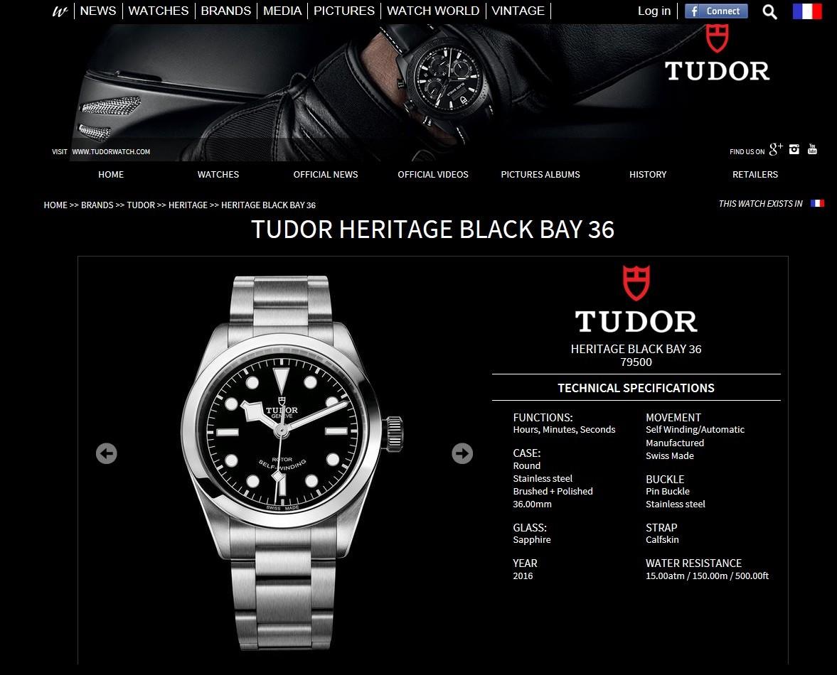 online store d6846 092b1 Tudor Heritage Black Bay 36」MAKOTOのブログ | 優しいユーロ ...