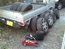 スタッドレス⇒サマー タイヤ12本、一気換装