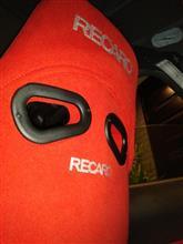 2016年3/23(水)  RECARO  RS-GS用バックレストカバー(カムイ) 装着やり直し