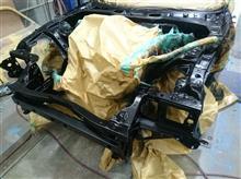 FD!RX-7!!オールペン前にエンジンルームの塗装!!!