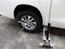 A君。。。タイヤ交換・洗車。。。妻と。。。