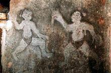 さいたま史跡の博物館、力士埴輪と韓国の万能壁画。