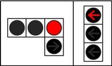 日本では右折矢印は直進の後で出ますが