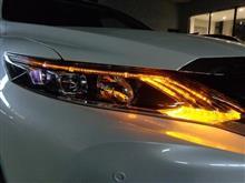 ハリアー60系 ヘッドライト加工・ドアハンドルウェルカムランプ取付 愛知県よりご来店
