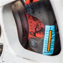 【ビート】DIXCEL キャリパー温度シール 貼り付け
