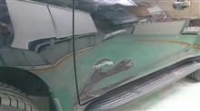 『トヨタ ランドクルーザープラド 板金・塗装・修理』 東京都武蔵村山市からご来店のお客様です。