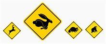 ウサギ注意!!