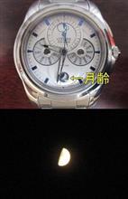 月齢表示・・・。日本メーカーの時計。