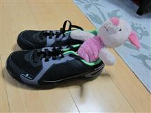 自転車パンツと靴