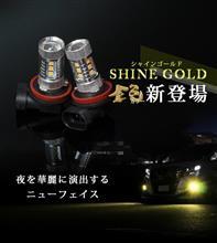 【シェアスタイル】H8 H11 H16兼用 / HB4 LEDフォグランプ 80W ホワイト/シャインゴールド