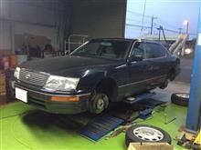 セルシオ タイヤ交換。
