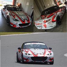 本日17日は茂木にてレースカーのロードスターのテスト・18日はツクバにてデモカーのロードスターのテストにて出張してます。