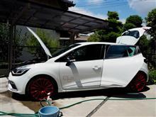 サーキット走行後の洗車を (洗車とお散歩 いつもの私)