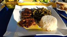 ある日の晩御飯13 お城の前で食べる創作料理 / Foutainebleau,  France
