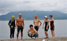 桜島・錦江湾横断遠泳大会にむけて海練