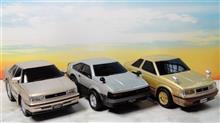 今やディーラーの販促品としても流布しとりますが, マルカ のプルバックカーで振り返る トヨタ の名車たち…。 GX-81 マークⅡ , ソアラ , セリカXX 他♪