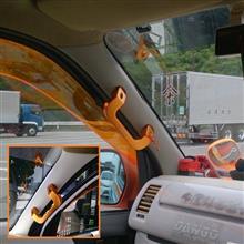 2016/07/18 オレンジグリップを引き立たせるためにピラーに白のカーボン調シートを貼り付け♪