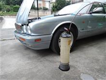 ジャガーのエンジンオイル交換