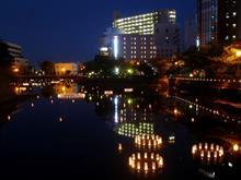 2016年福井城址お堀の灯り