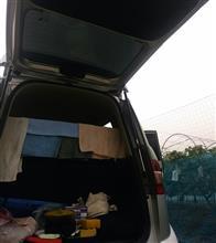 朝早くから洗車
