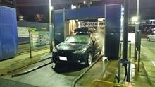 真夜中洗車。