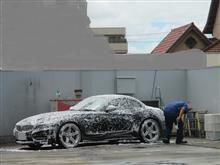 台風前に洗車とプチモディ♪