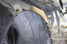 リアフェンダー加工 ざっくりカット 折り加工も出来ますよ~♪ アルファード ヴェルファイア ハイブリッド マジェスタ クラウン マークX セルシオ エルグランド エスティマ プリウス