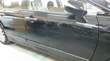 『ホンダ シビック 右ドア板金・塗装・修理』 東京都立川市からご来店のお客様です。