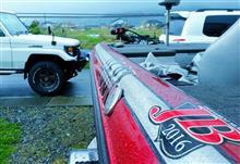 雨の中 Bassboat リギング
