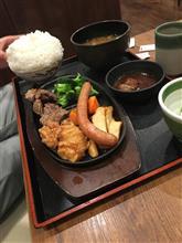 カツ丼、唐揚げ、フライドポテト|・ω・*)