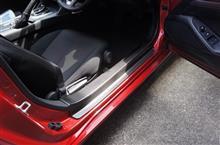 ドライカーボン製マツダロードスター用ステップガードカバー取り付け確認しました