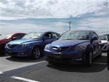 ここでクロノス兄弟か。(アクセラとコスモスポーツ@Be a driver. Experience at FUJI SPEEDWAY)