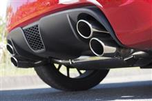 【大迫力!縦並び4本出しマフラー】 アバルト500/500/C 新規制対応 スポーツマフラー