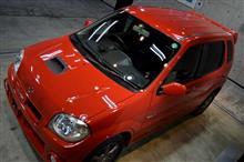 『赤も希少カラーです。』スズキ・keiワークスのガラスコーティング【リボルト札幌】