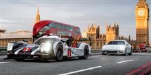 「919ハイブリッド」が早朝のロンドンの街を走る!