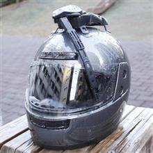 払拭 雨の日のツーリングも快適に!ヘルメット・ワイパー見参。