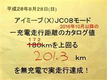 i-MiEV(X)無充電チャレンジ2016夏!新記録達成!ついに大台へ!!