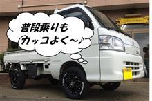 FAFリフトアップスプリング取り付け トヨタ ピクシス トラク 4WD ターボ(型式S331G)
