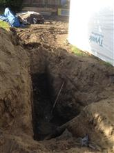 connecting the exsiting sewer line