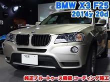BMW X3(F25) 純正機能ブルートゥース有効化
