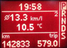 燃費記録を更新しました・・・12.06km/L(満タン法)