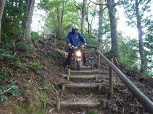 熊野の山奥でモンキー階段で苦労?するの巻