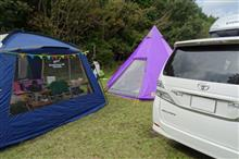 週末にキャンプ