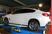 BMW F16 X6 ECDキット完成物語&再アライメント調整(ストローク変更の為)